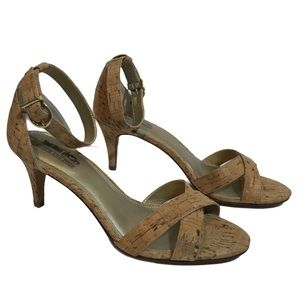 Coach and Four Corkscrew Ankle Strap Heels Sandals